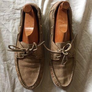 Sebago Docksiders boat shoe men's 12 tan